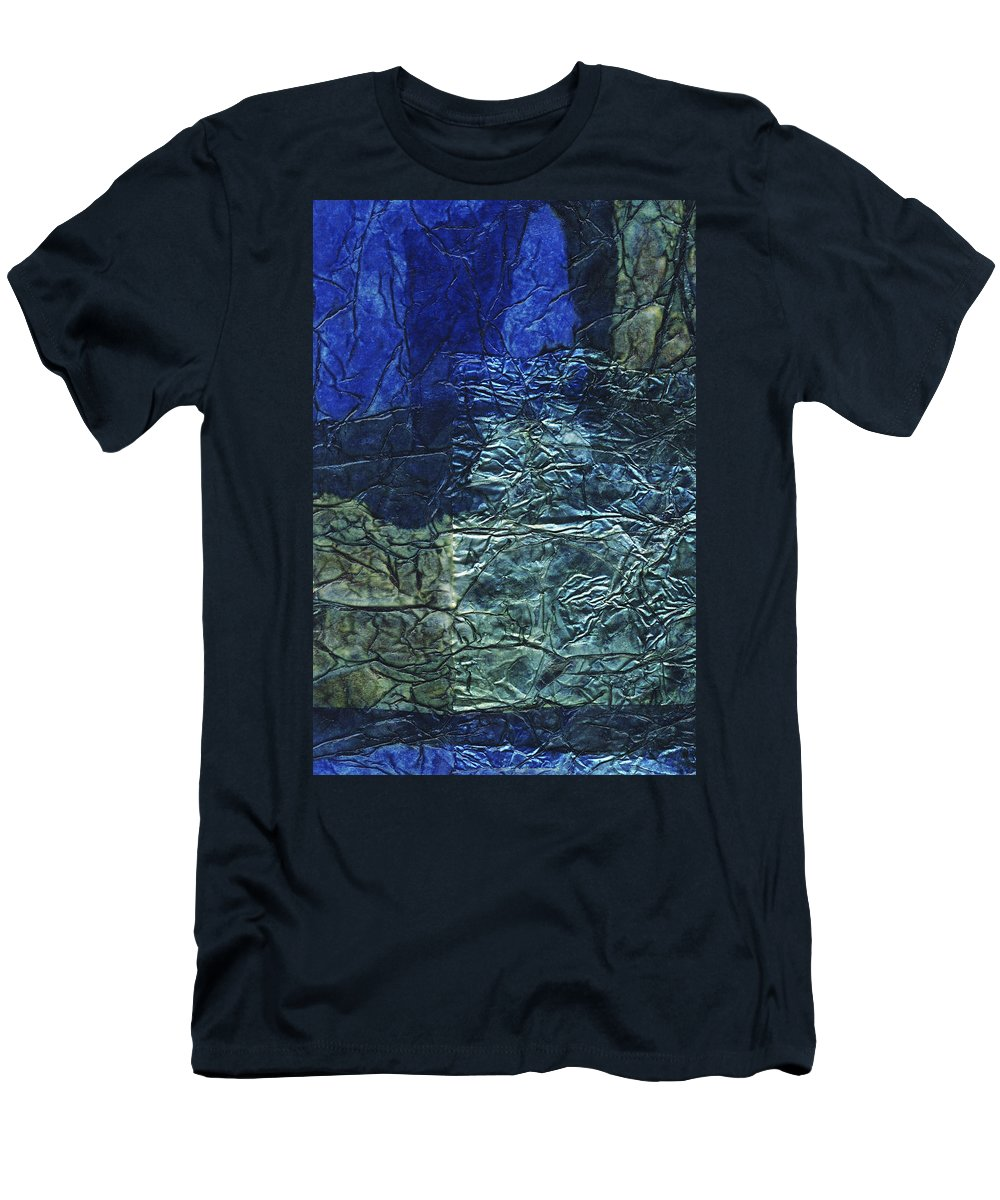 Abstract Men's T-Shirt (Athletic Fit) featuring the mixed media Rhapsody Of Colors 66 by Elisabeth Witte