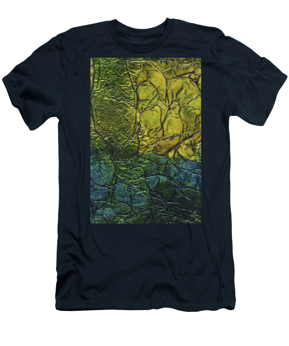 Abstract Men's T-Shirt (Athletic Fit) featuring the mixed media Rhapsody Of Colors 72 by Elisabeth Witte
