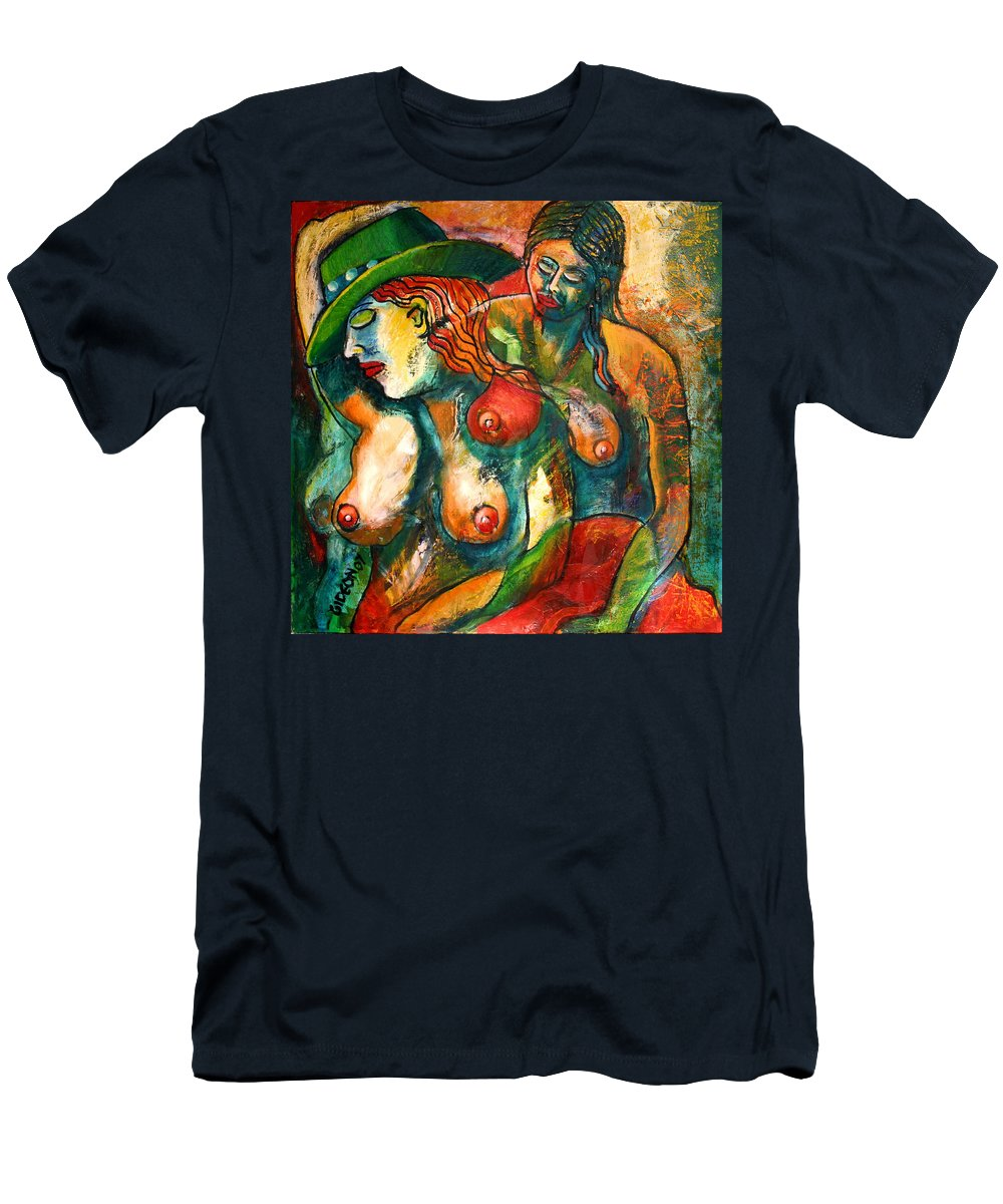 Painting Men's T-Shirt (Athletic Fit) featuring the painting Riding by Gideon Cohn