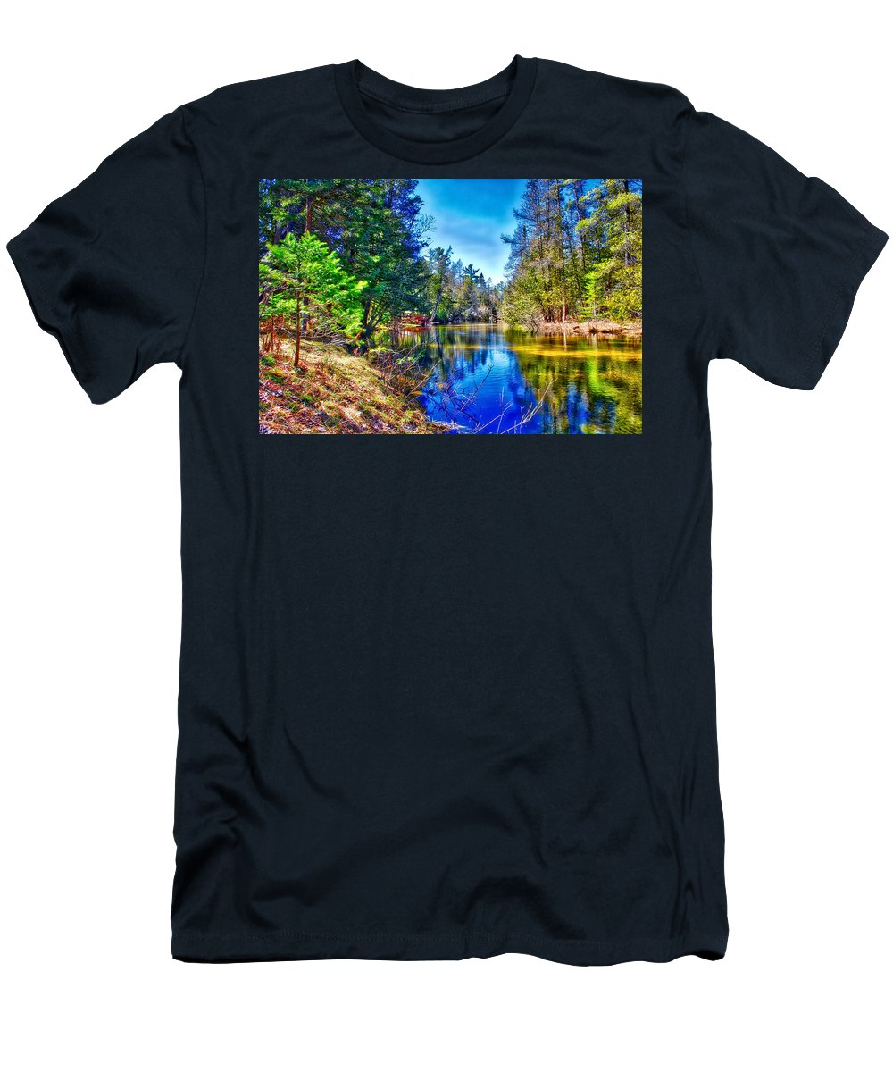 River Men's T-Shirt (Athletic Fit) featuring the photograph River Bend View by Rick Jackson
