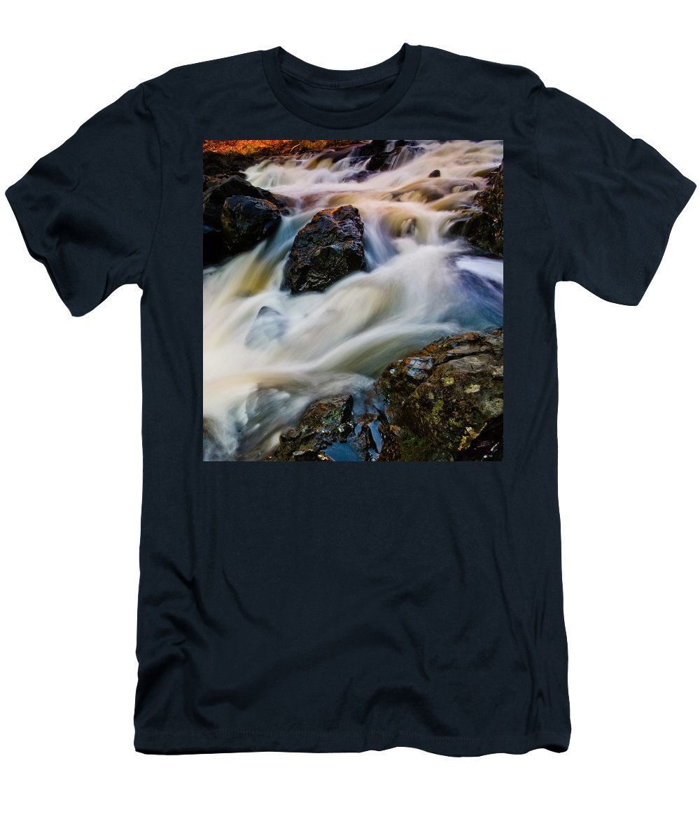 Troy Men's T-Shirt (Athletic Fit) featuring the photograph River Dance by Neil Shapiro