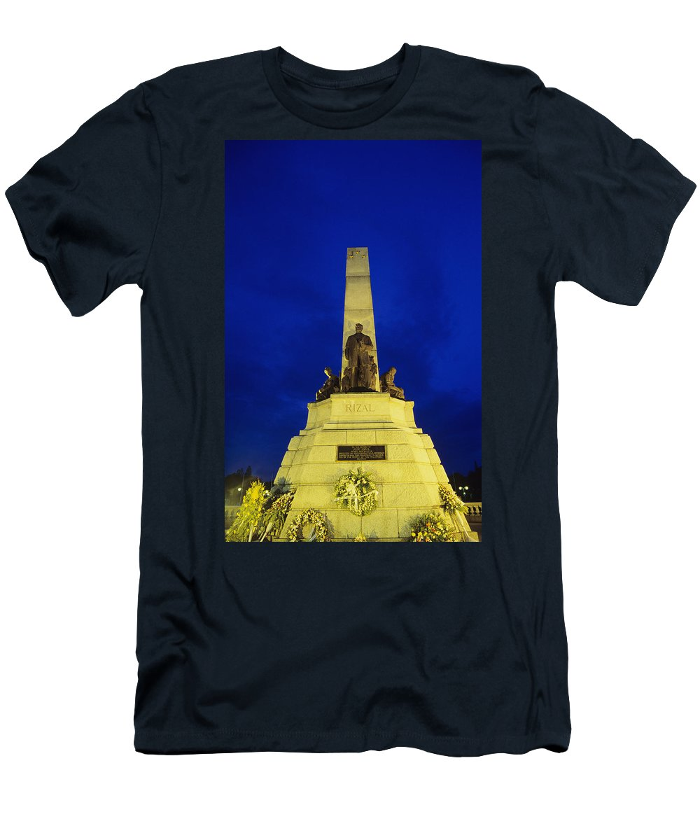 Architectural Art Men's T-Shirt (Athletic Fit) featuring the photograph Rizal Monument by William Waterfall - Printscapes