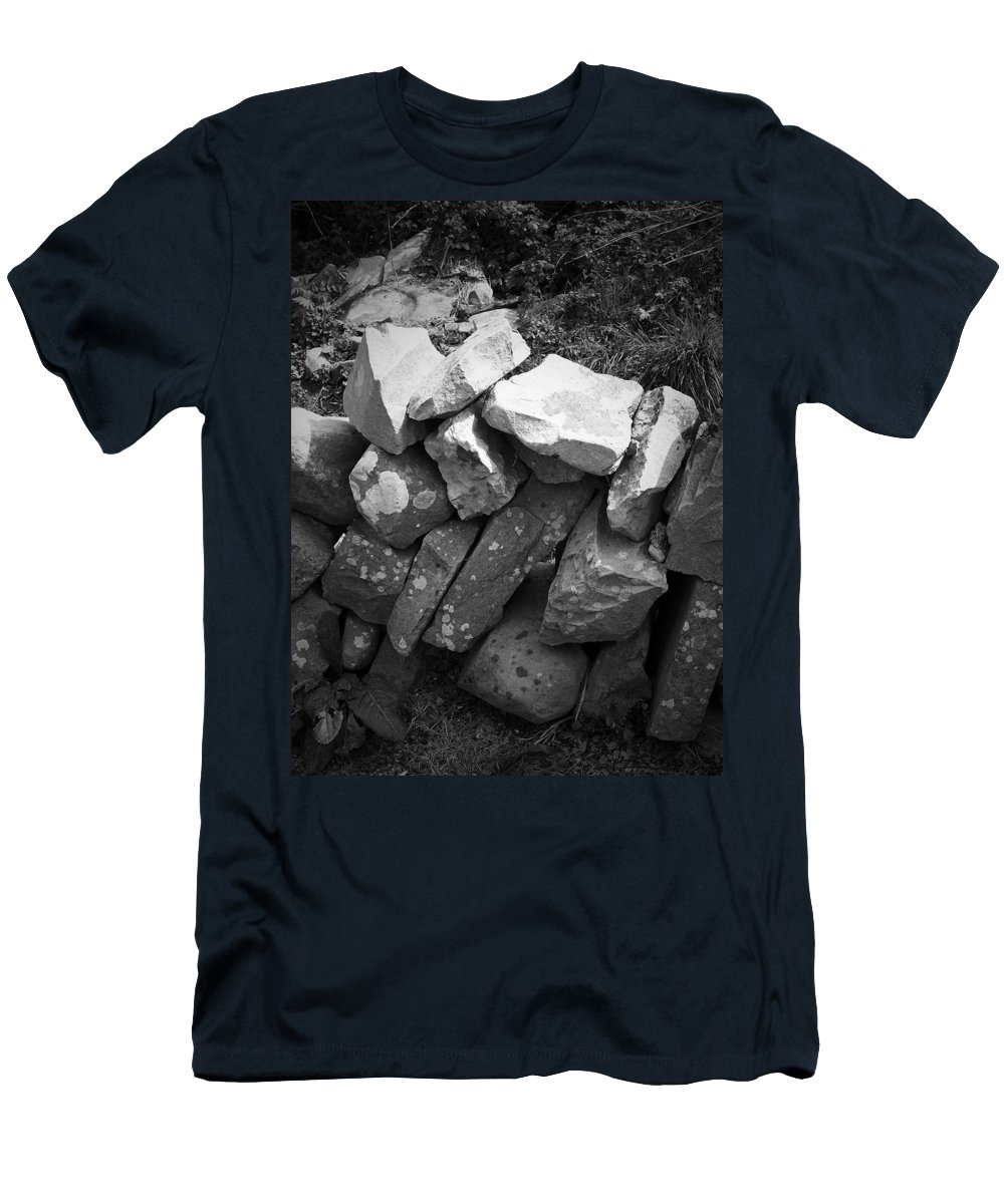 Irish Men's T-Shirt (Athletic Fit) featuring the photograph Rock Wall Doolin Ireland by Teresa Mucha