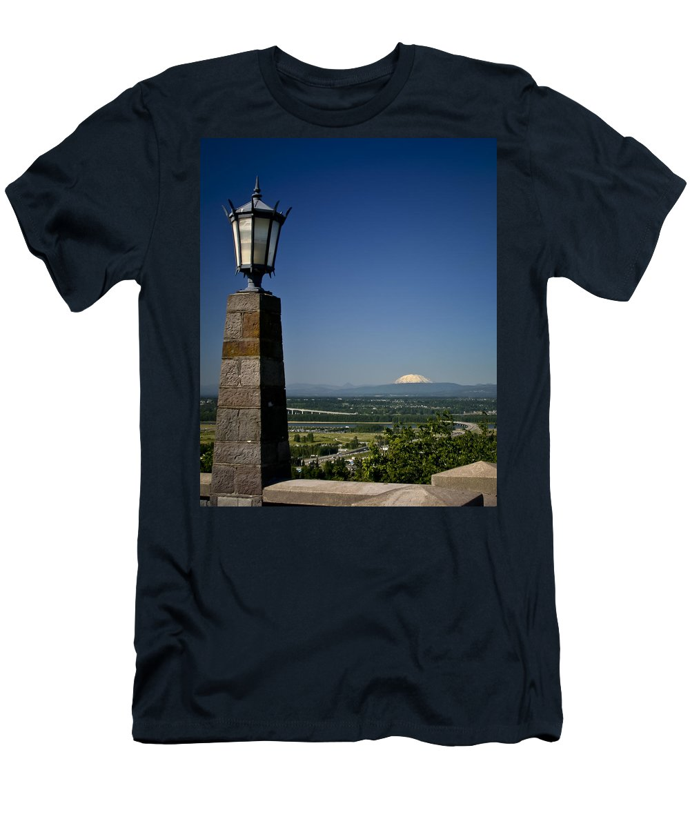 Rocky Butte Men's T-Shirt (Athletic Fit) featuring the photograph Rocky Butte 2 by Albert Seger
