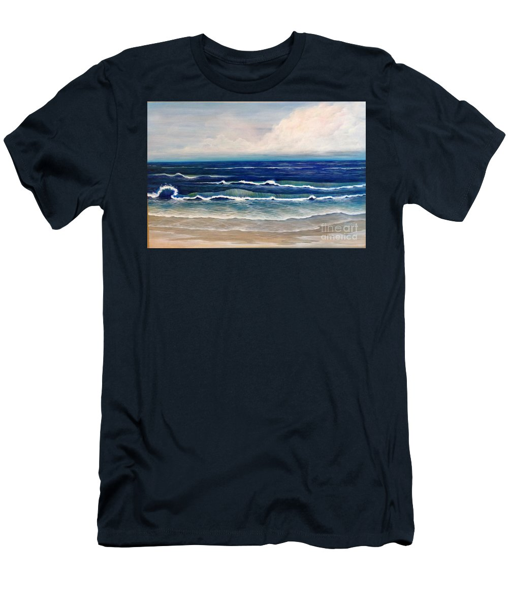 Beach Men's T-Shirt (Athletic Fit) featuring the painting Roll Tide by M J Venrick