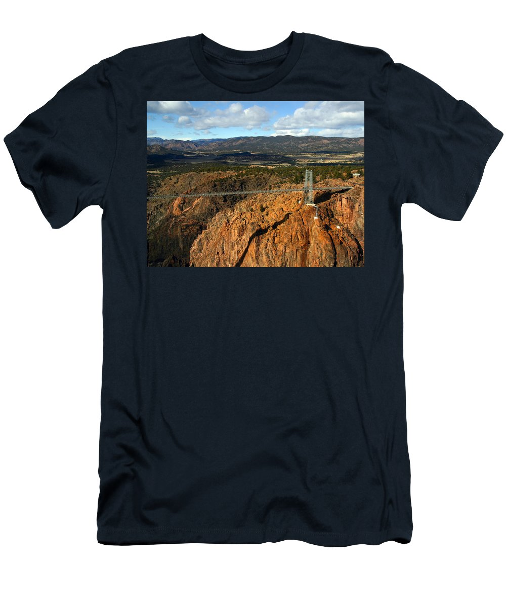 Royal Gorge Men's T-Shirt (Athletic Fit) featuring the photograph Royal Gorge by Anthony Jones