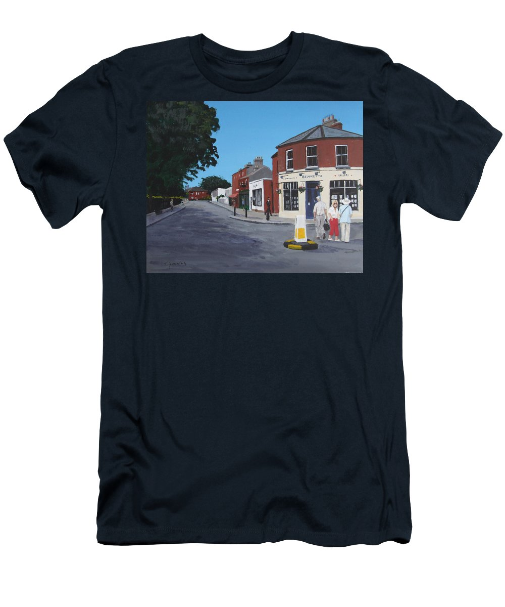 Sandymount Men's T-Shirt (Athletic Fit) featuring the painting Sandymount Green by Tony Gunning