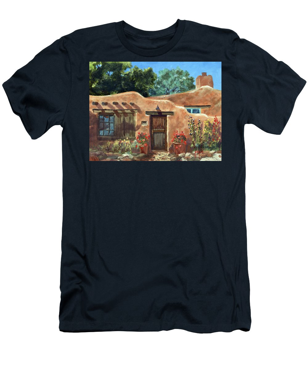 Taos Men's T-Shirt (Athletic Fit) featuring the painting Santa Fe Traditions by Ken Pieper