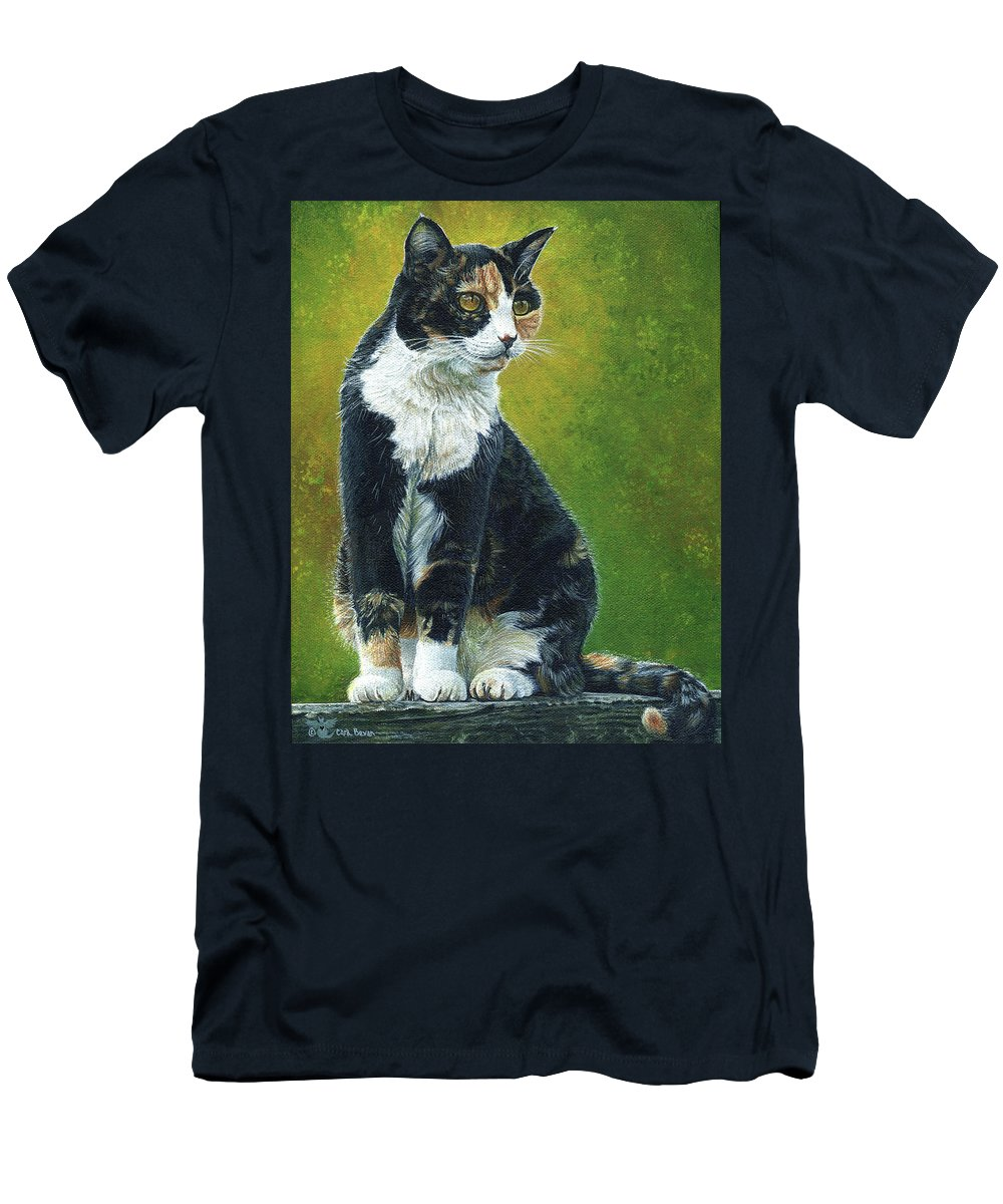 Sassy Men's T-Shirt (Athletic Fit) featuring the painting Sassy by Cara Bevan