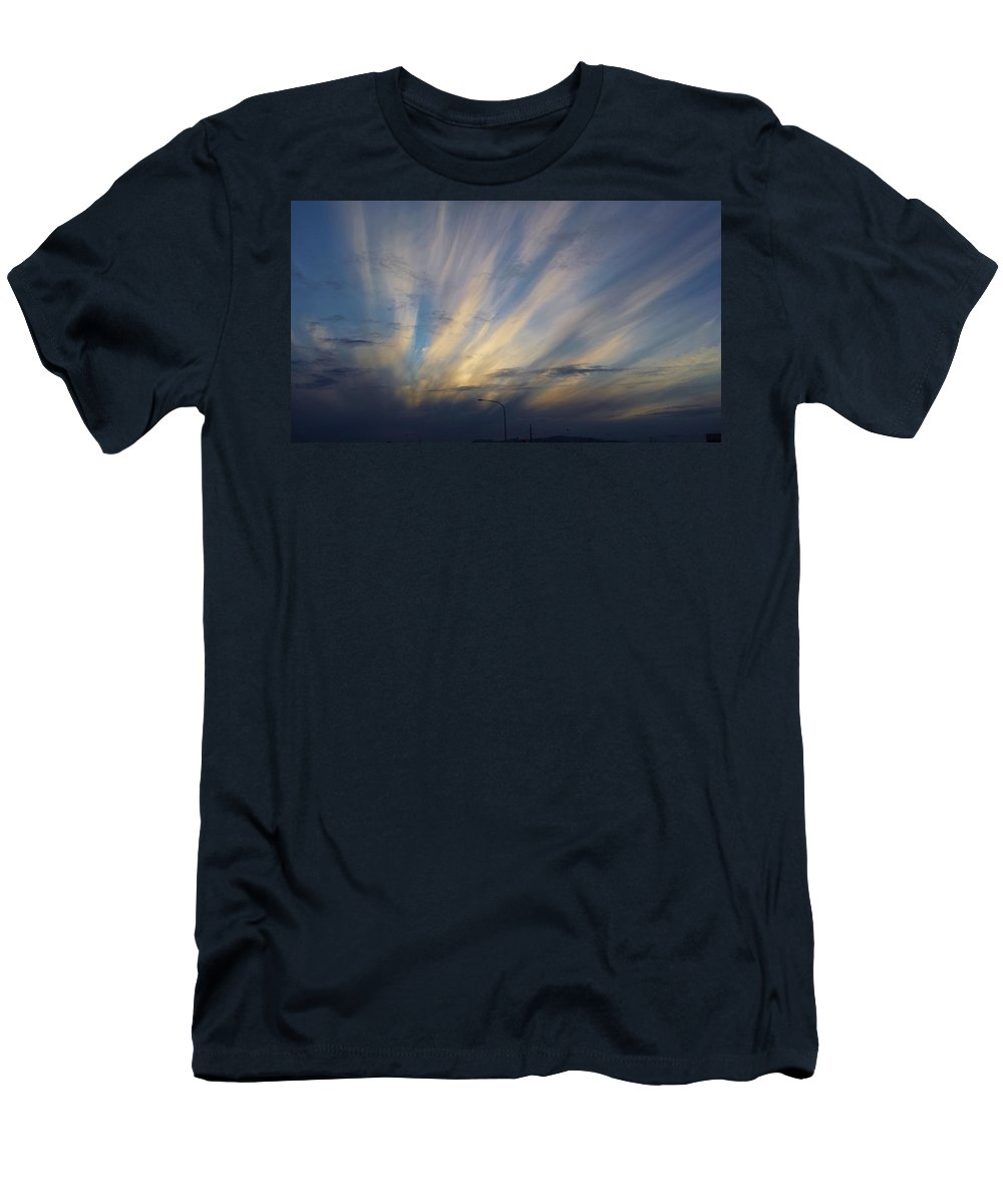 Landscape Men's T-Shirt (Athletic Fit) featuring the photograph Scattered Sky by Jess Williams