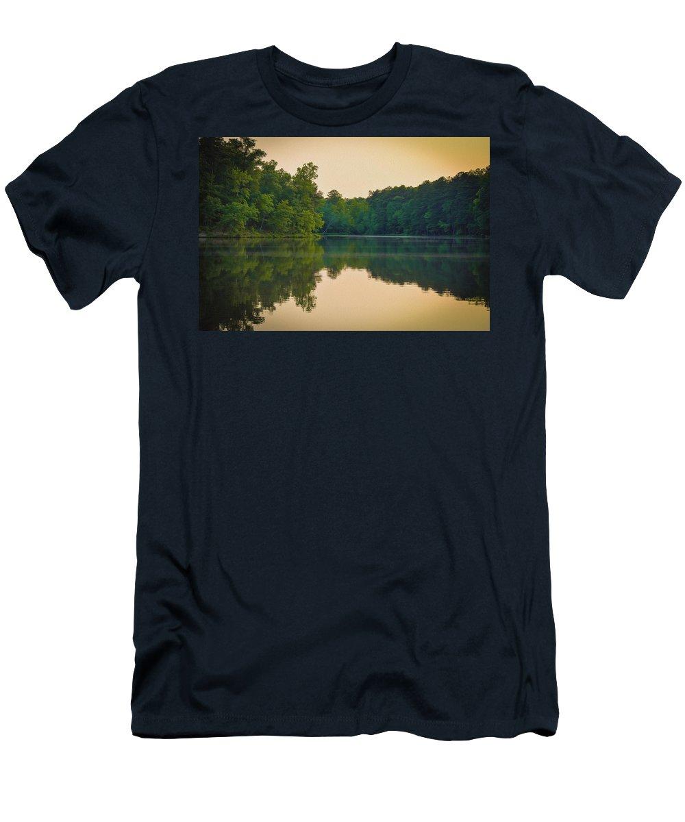 Landscape Men's T-Shirt (Athletic Fit) featuring the photograph Scene Serene by Daniel Parlante