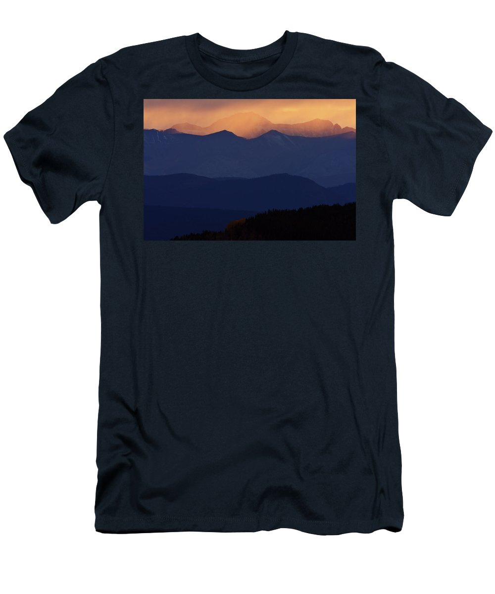 Mountains Men's T-Shirt (Athletic Fit) featuring the digital art Scenic Northern Rockies Of British Columbia by Mark Duffy
