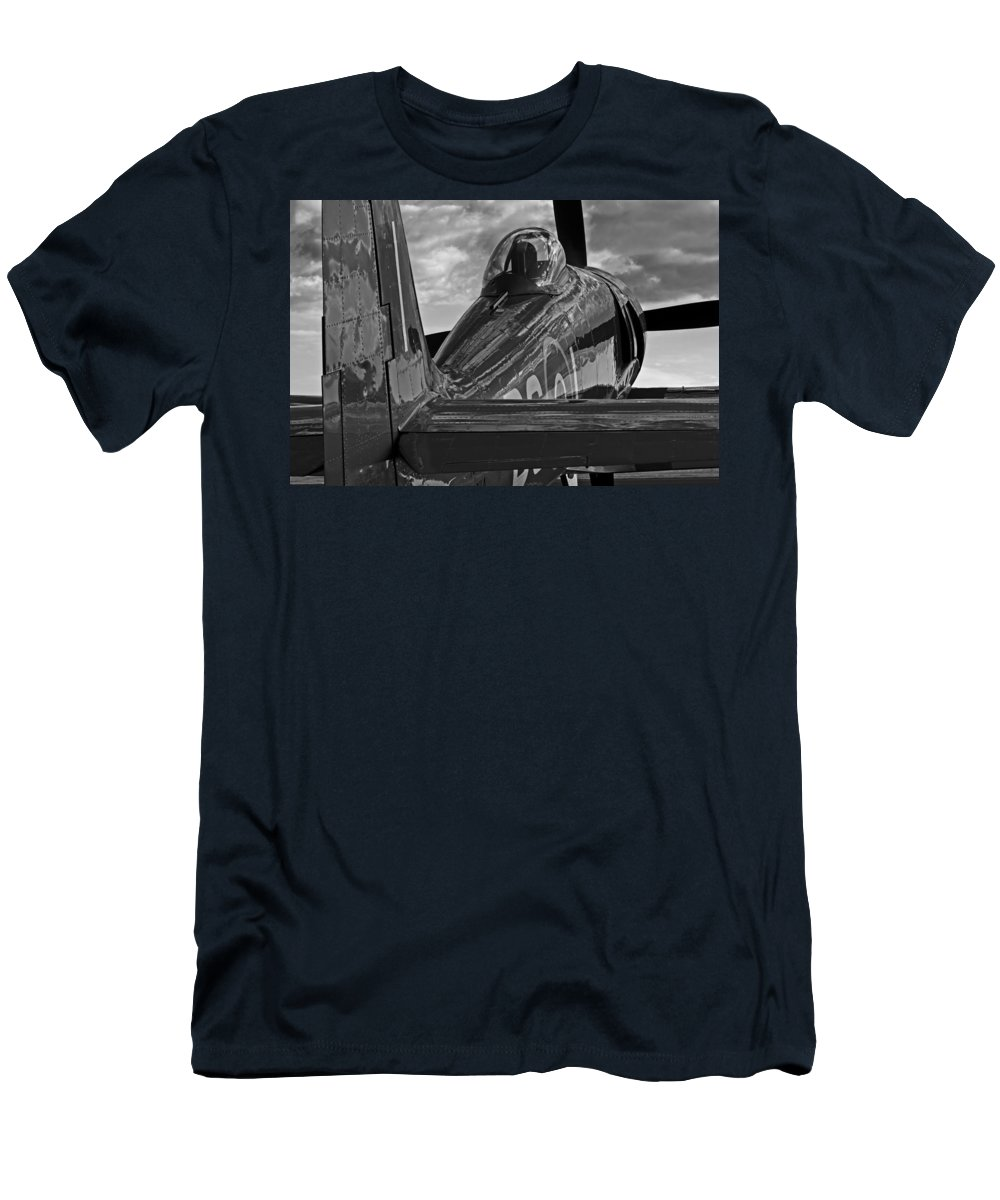 Aviation Men's T-Shirt (Athletic Fit) featuring the photograph Sea Fury Reflections by Rick Pisio