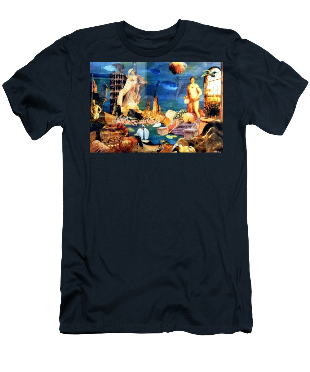 Fantasy Men's T-Shirt (Athletic Fit) featuring the painting Sea Garden by Gail Kirtz