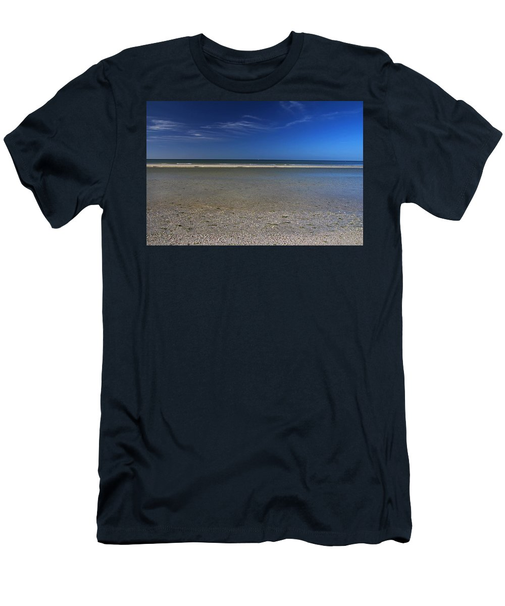 Beach Men's T-Shirt (Athletic Fit) featuring the photograph Sea Of Secrets by Michiale Schneider