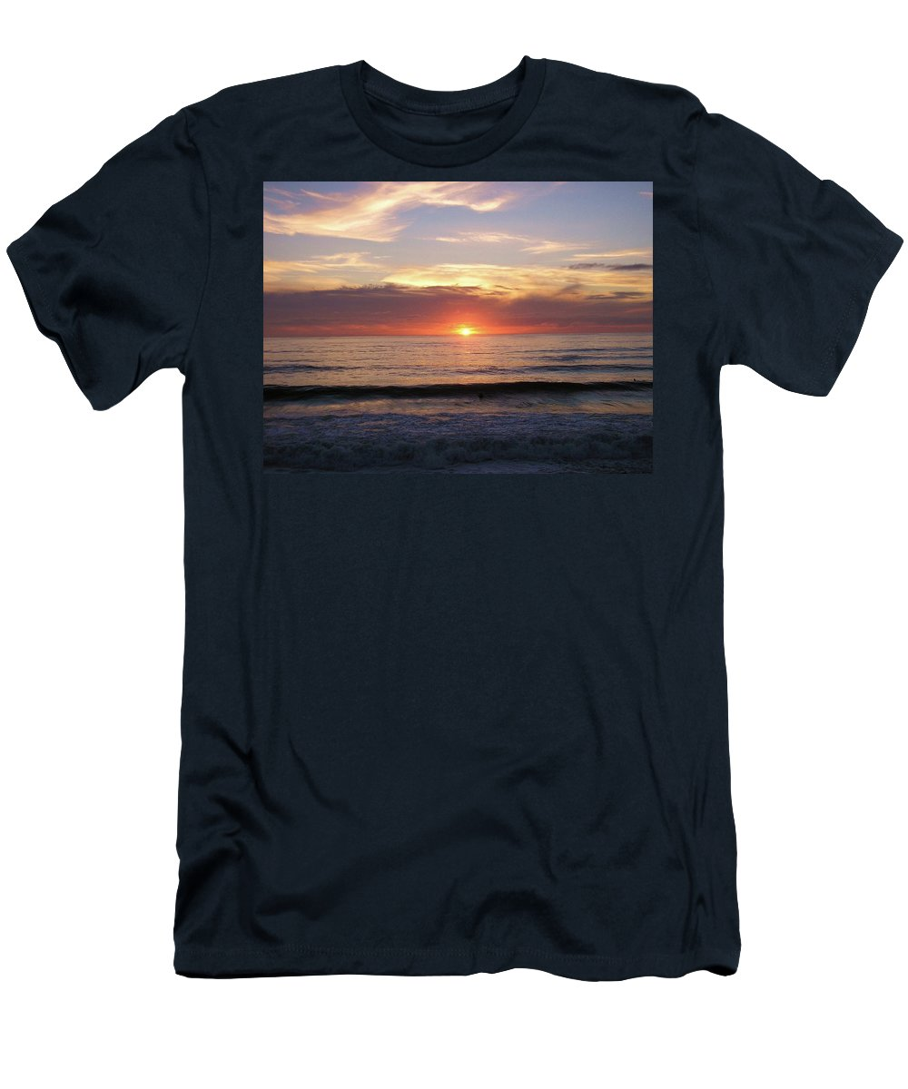 Strandhill Men's T-Shirt (Athletic Fit) featuring the photograph Seascape by Louise Macarthur Art and Photography