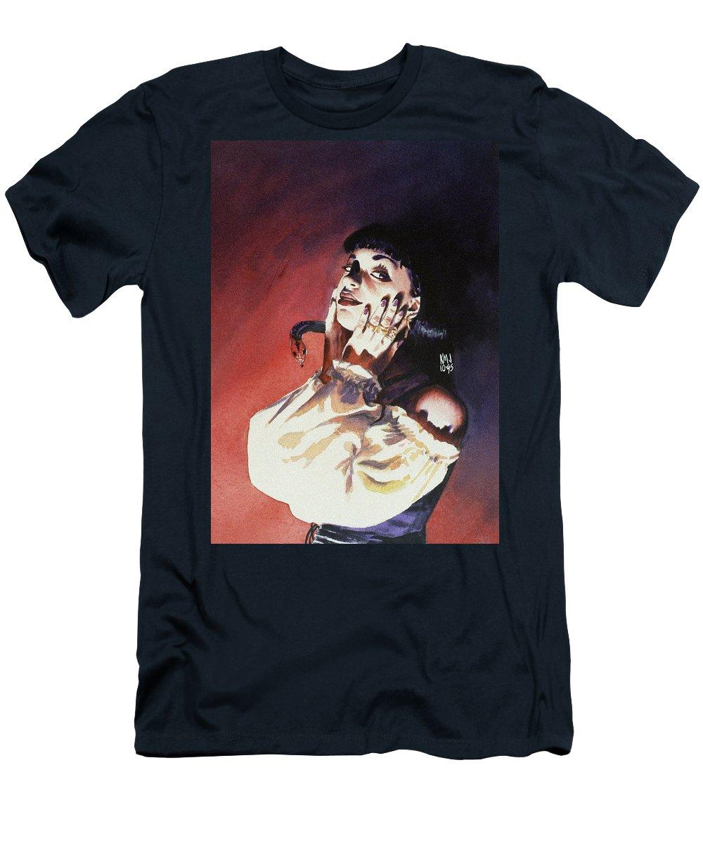 Women T-Shirt featuring the painting Set by Ken Meyer jr