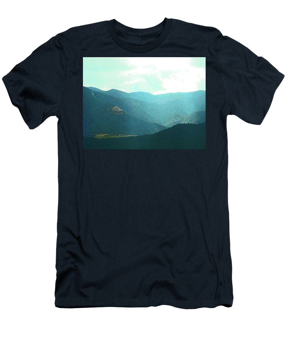Abstract Men's T-Shirt (Athletic Fit) featuring the photograph Shaft Of Light by Lenore Senior