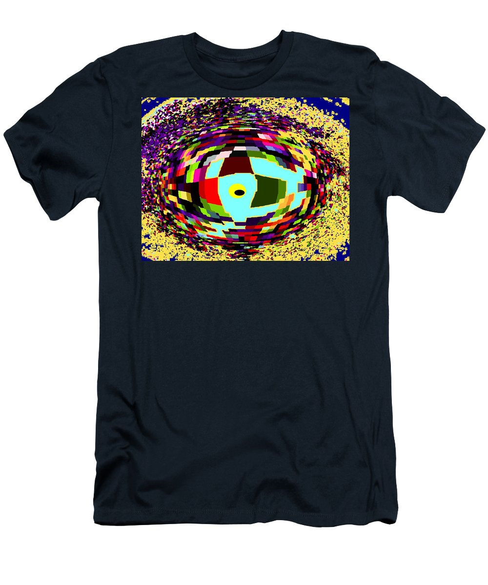 Abstract Men's T-Shirt (Athletic Fit) featuring the digital art Shattered by Ian MacDonald