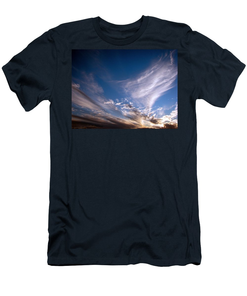 Skies Men's T-Shirt (Athletic Fit) featuring the photograph Sky by Amanda Barcon