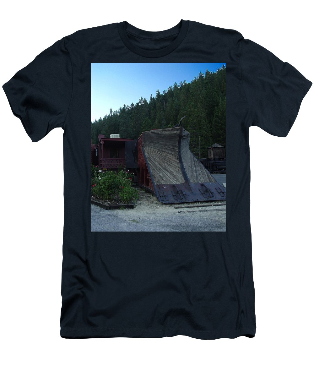 Train Men's T-Shirt (Athletic Fit) featuring the photograph Snow Plow by Peter Piatt