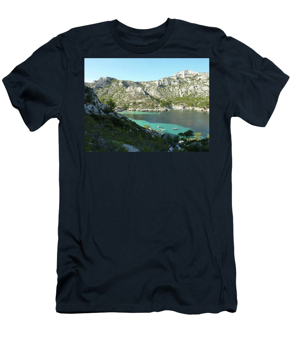 Men's T-Shirt (Athletic Fit) featuring the photograph Sormiou Calanque by Andres Chauffour