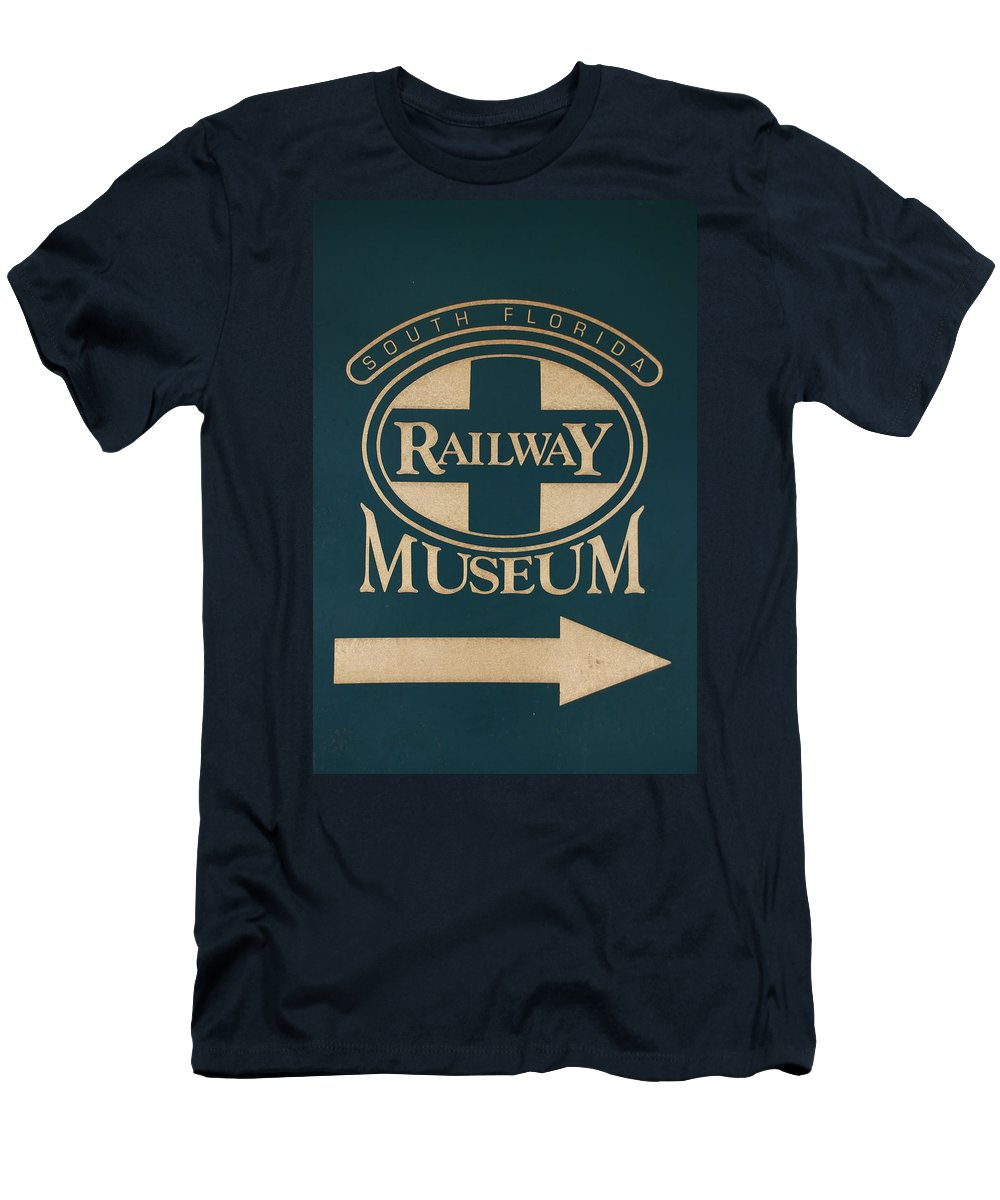 South Florida Railway Museum Men's T-Shirt (Athletic Fit) featuring the photograph South Florida Railway Museum by Rob Hans