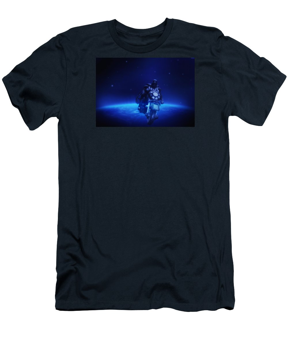 Darth Men's T-Shirt (Athletic Fit) featuring the photograph Space Cowboy by Bill Cannon
