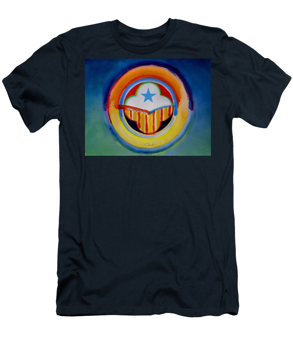 Button Men's T-Shirt (Athletic Fit) featuring the painting Spanish American by Charles Stuart