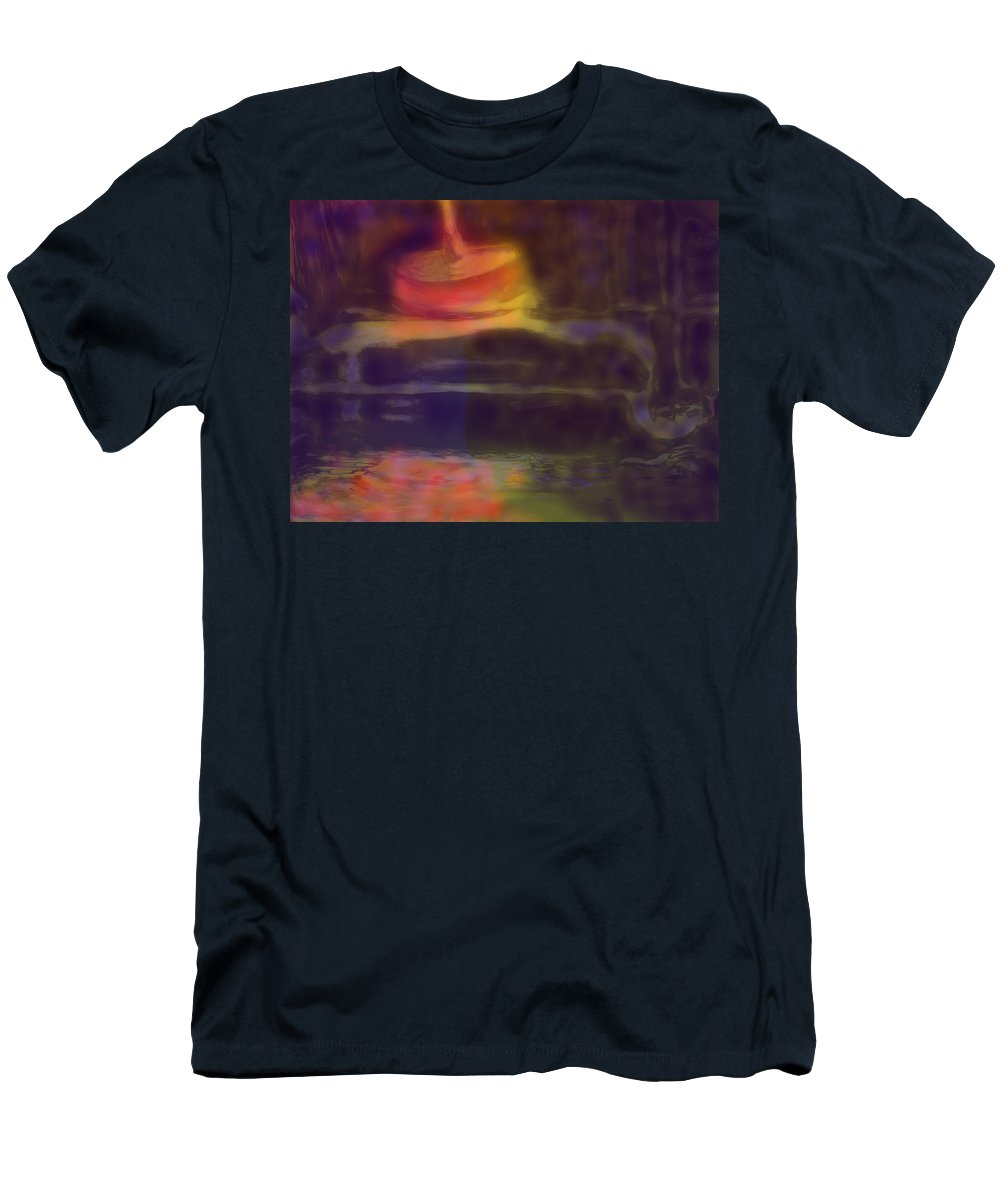 Abstract Men's T-Shirt (Athletic Fit) featuring the digital art Spinning Light by Ian MacDonald