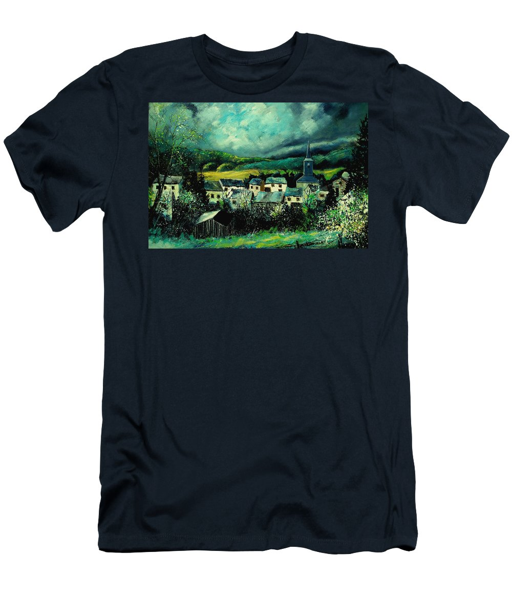 Tree Men's T-Shirt (Athletic Fit) featuring the painting Spring In Daverdisse by Pol Ledent