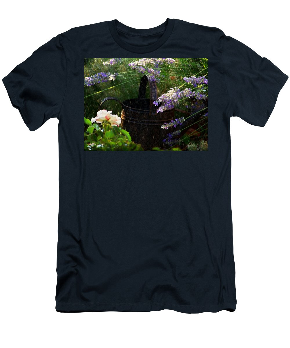 Spring Rain Men's T-Shirt (Athletic Fit) featuring the photograph Spring Rain by Marika Evanson