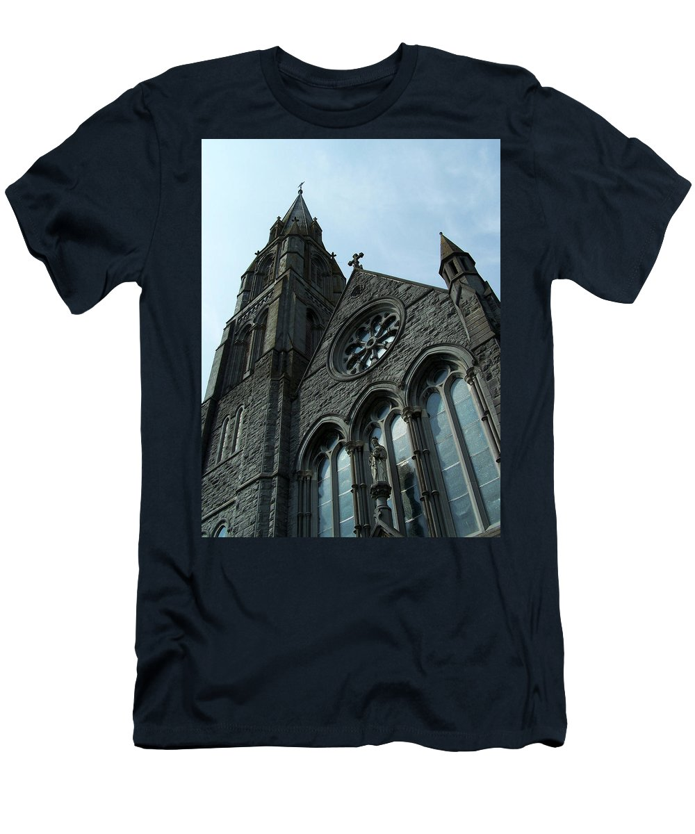 Ireland Men's T-Shirt (Athletic Fit) featuring the photograph St. Mary's Of The Rosary Catholic Church by Teresa Mucha