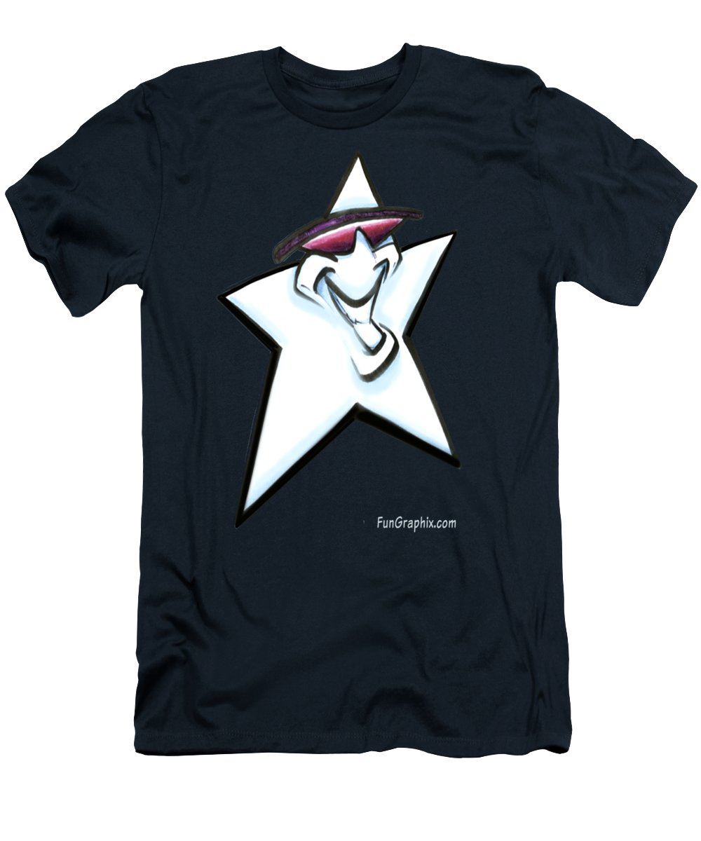 Star Men's T-Shirt (Athletic Fit) featuring the digital art Star by Kevin Middleton