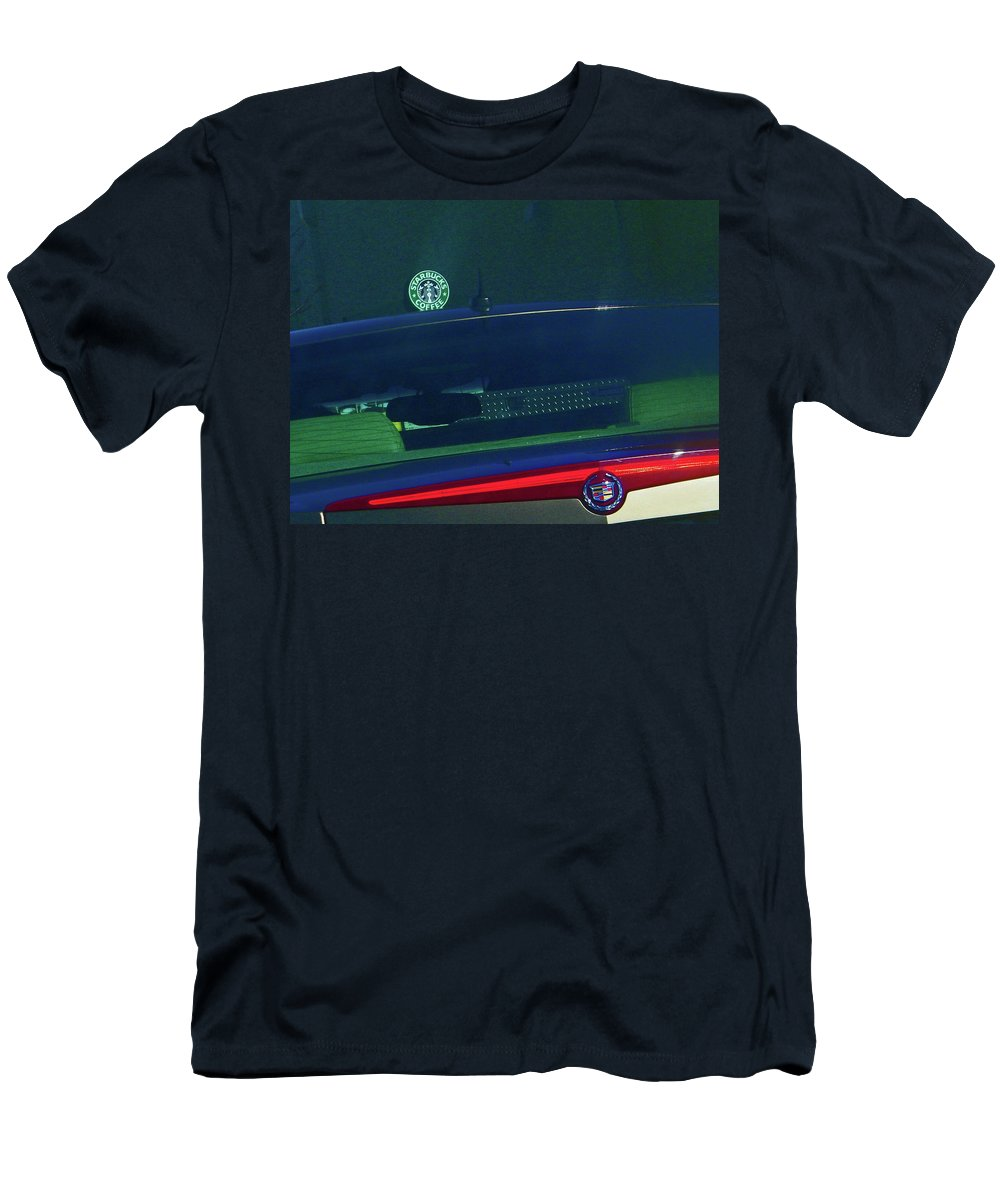 Abstract Men's T-Shirt (Athletic Fit) featuring the digital art Starbucks 2 by Lenore Senior