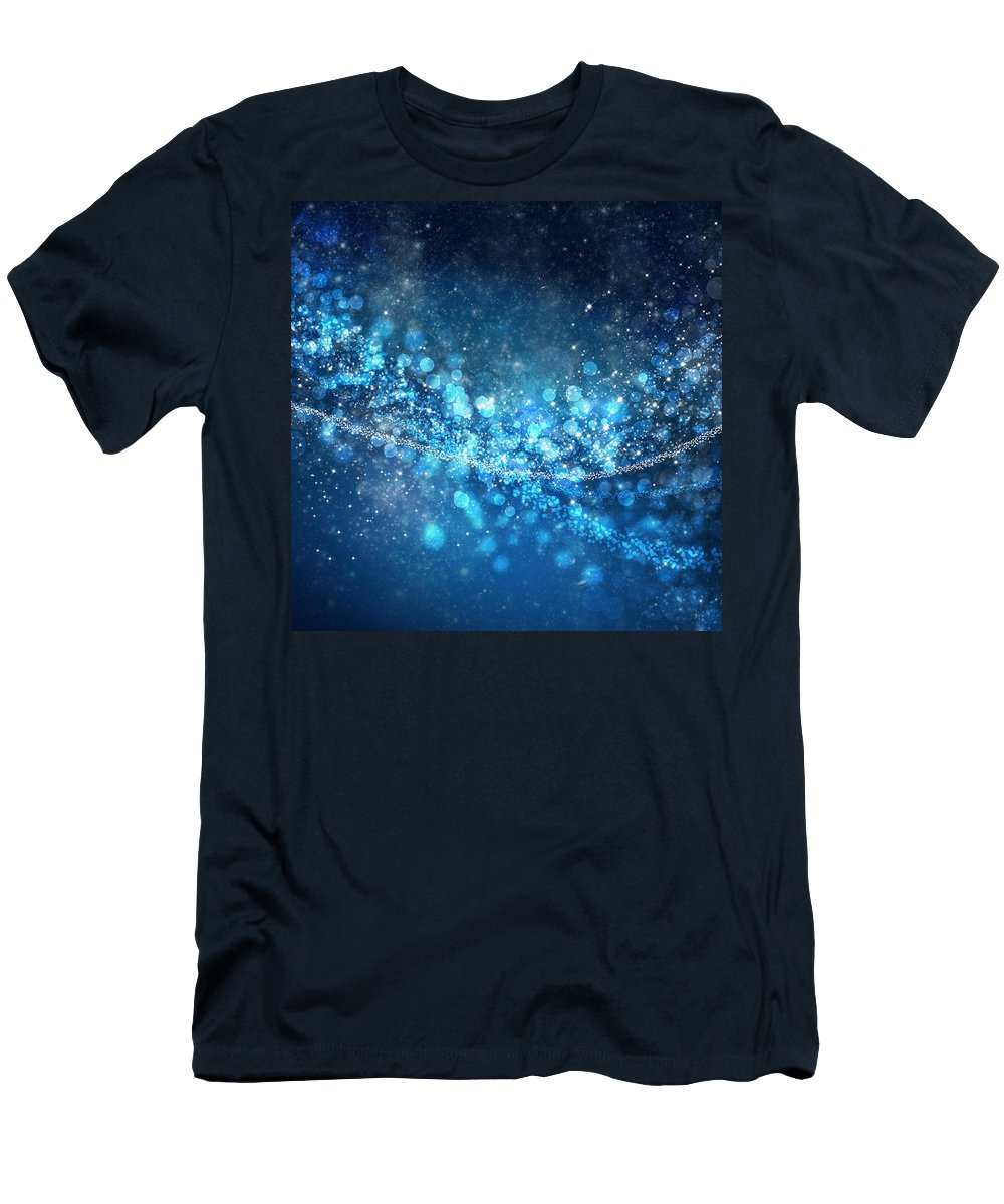 Abstract Men's T-Shirt (Athletic Fit) featuring the photograph Stars And Bokeh by Setsiri Silapasuwanchai