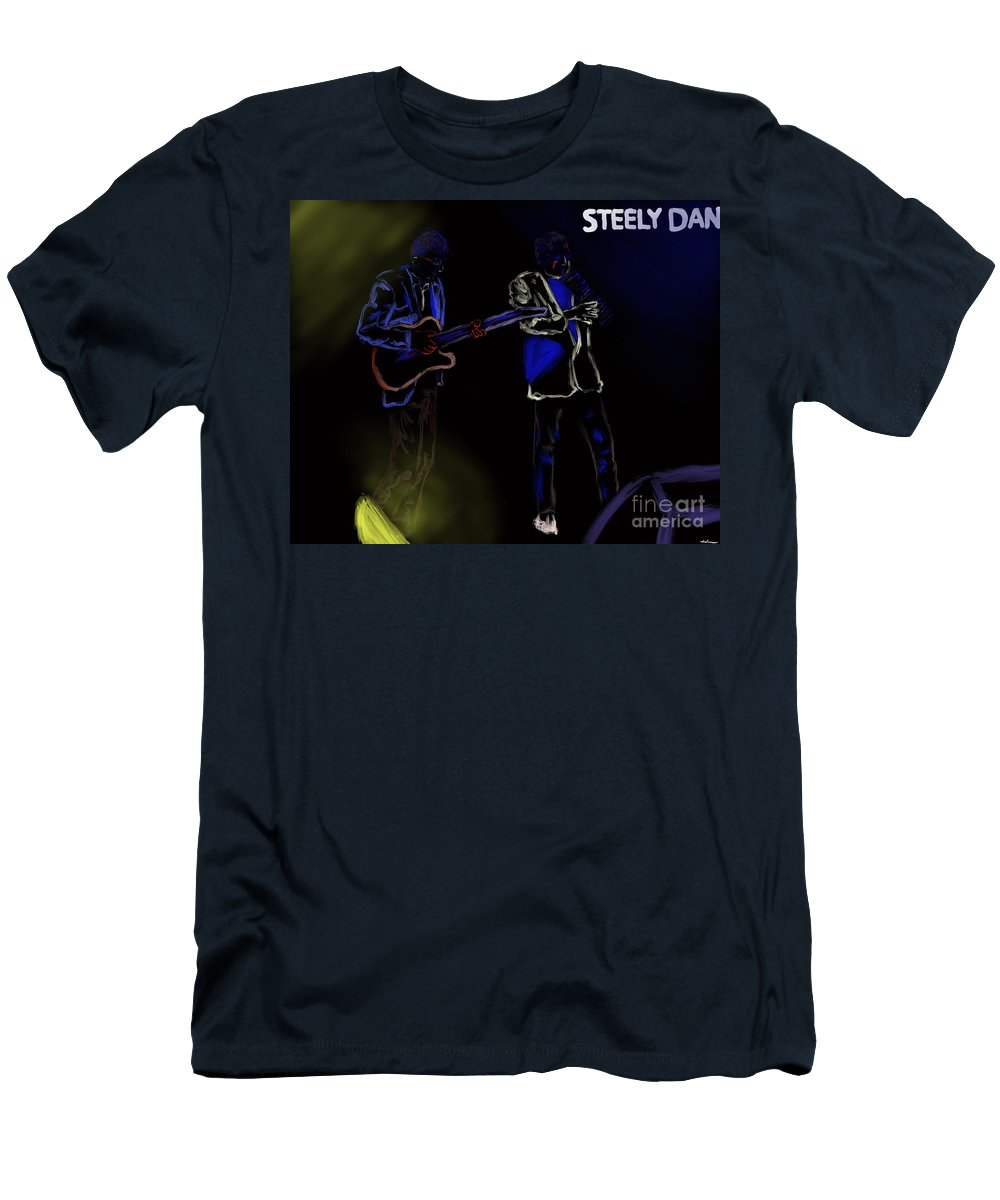 Steely Dan Men's T-Shirt (Athletic Fit) featuring the painting Steely Dan October 2017 by Jack Bunds