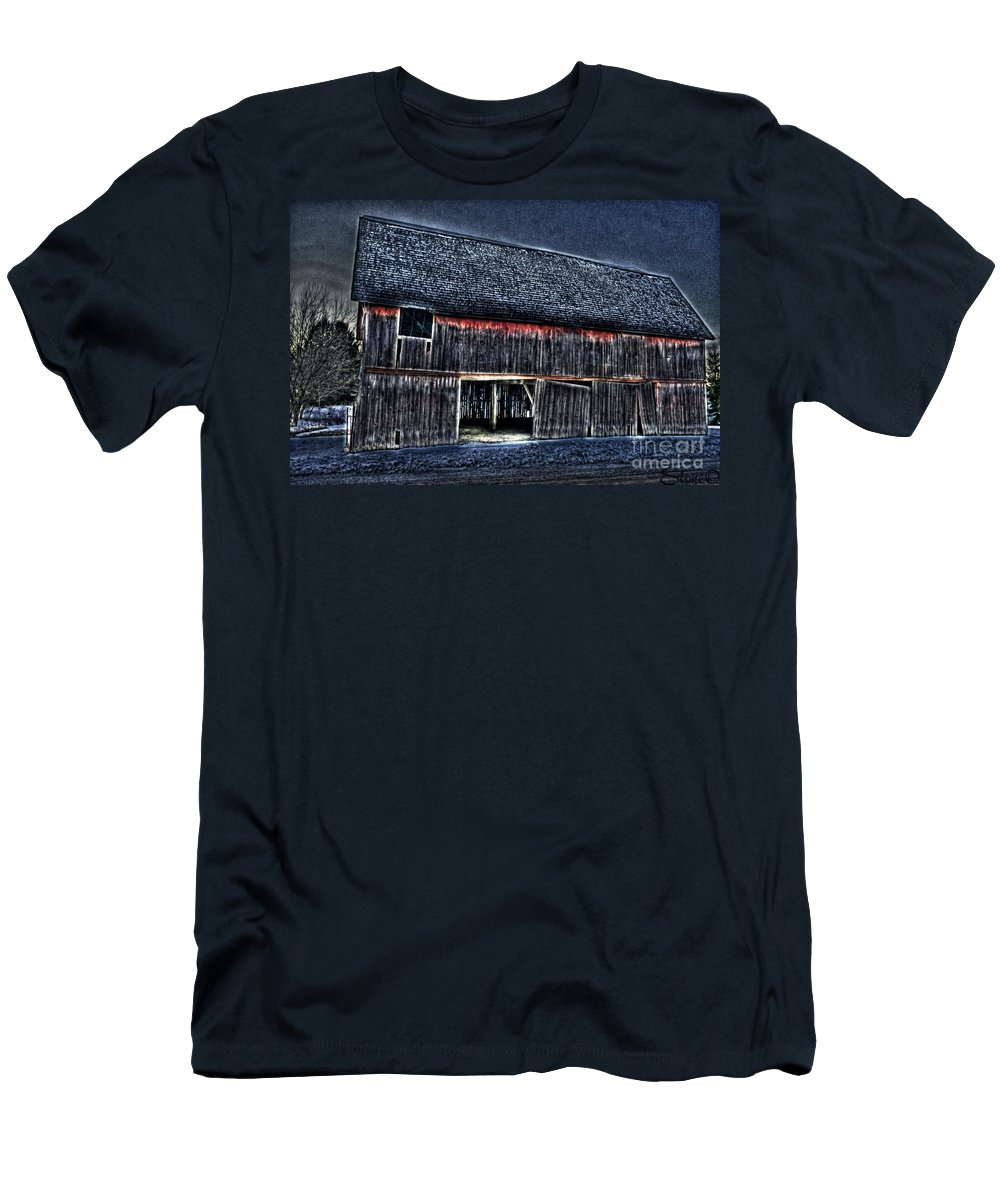 Country Men's T-Shirt (Athletic Fit) featuring the photograph Still In The Sticks Hdr by September Stone