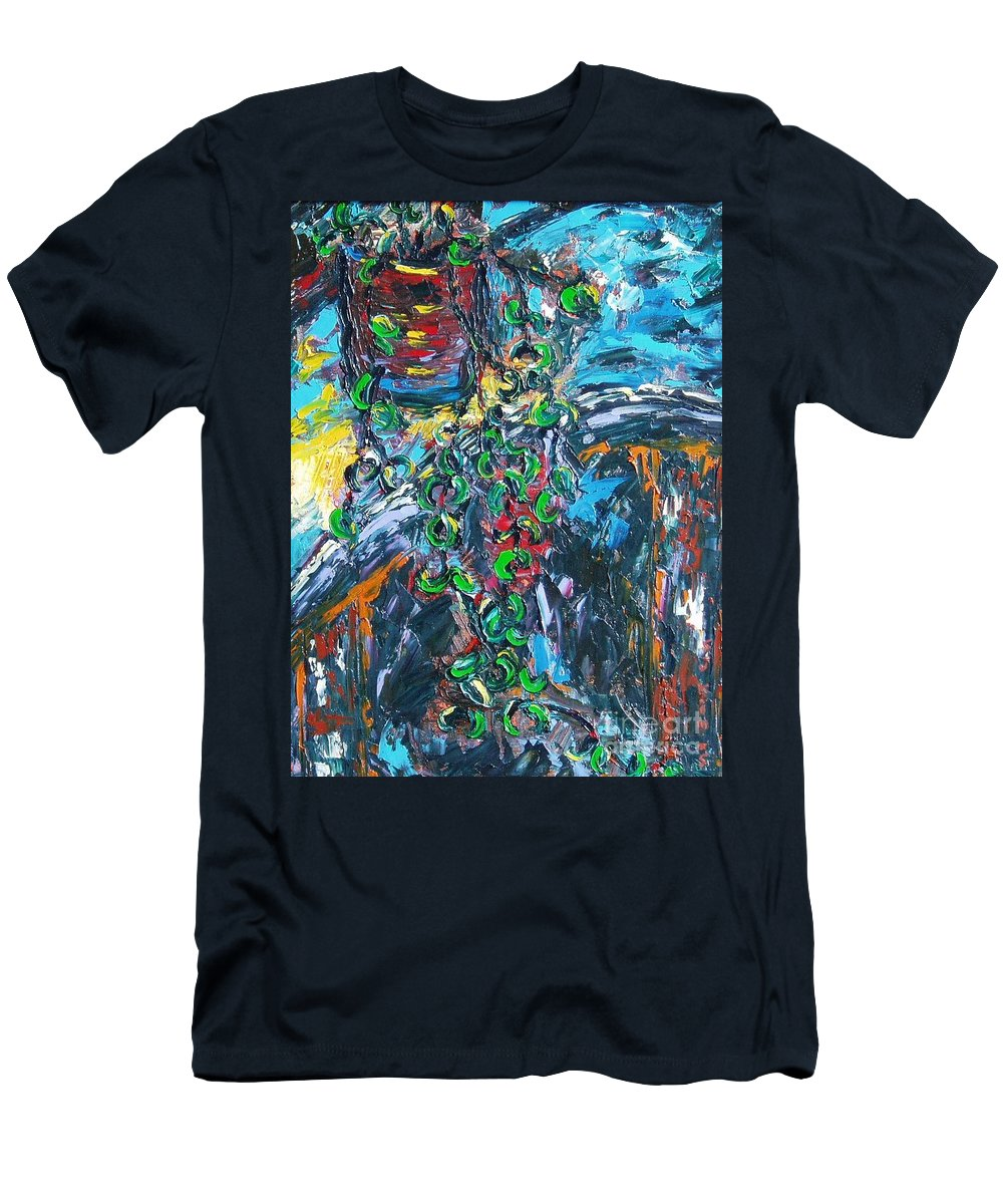 Sjkim Art Men's T-Shirt (Athletic Fit) featuring the painting Abstract Still Life by Seon-Jeong Kim