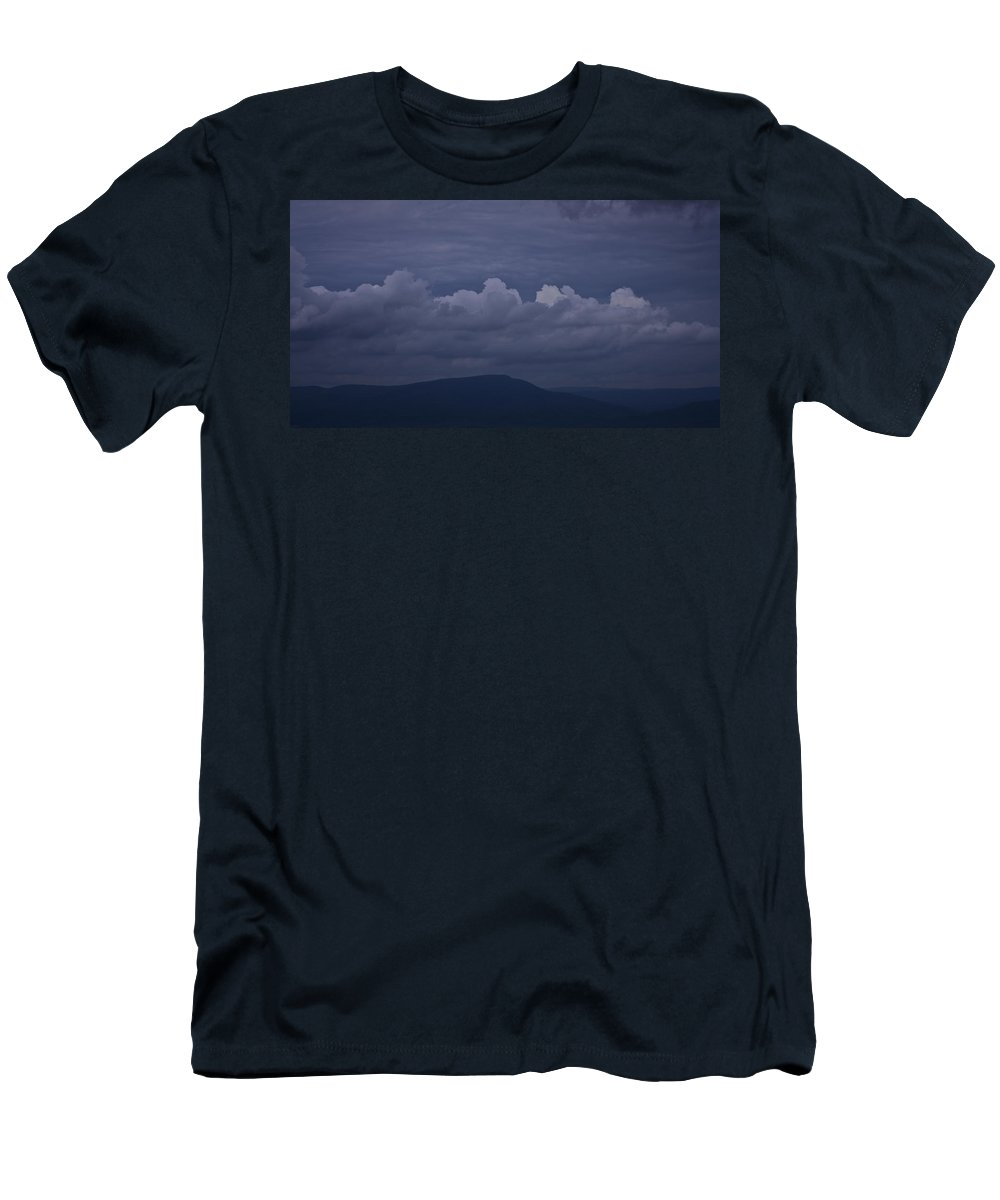 Roanoke Men's T-Shirt (Athletic Fit) featuring the photograph Storm Clouds Over The Valley by Teresa Mucha