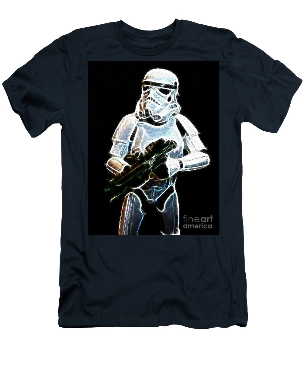 Storm Trooper Men's T-Shirt (Athletic Fit) featuring the photograph Storm Trooper by Paul Ward