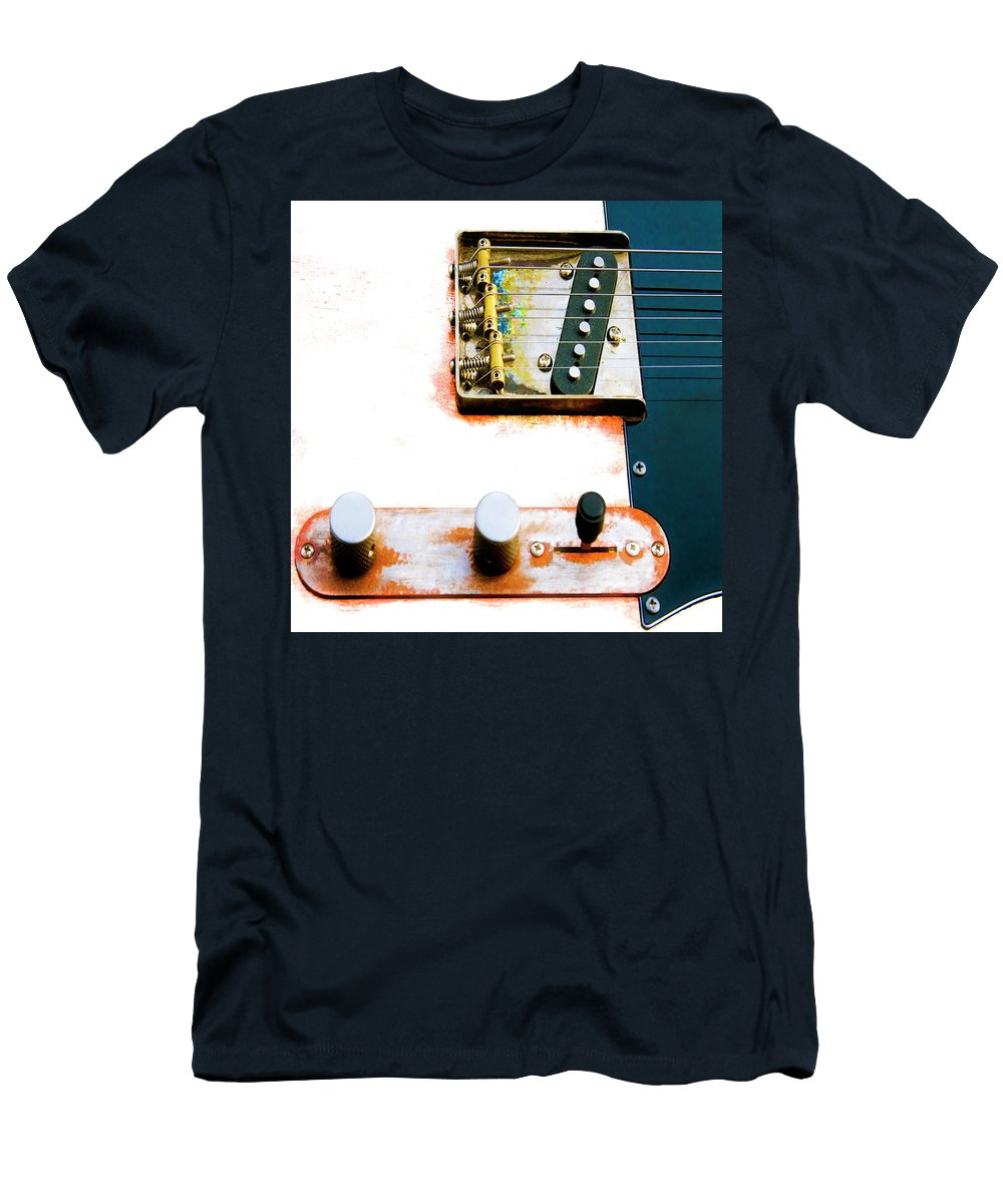 Sugar Kane Men's T-Shirt (Athletic Fit) featuring the photograph Sugar Kane Telecaster by Micah Offman
