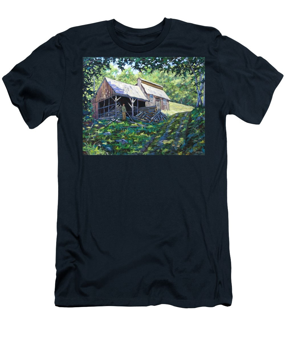 Sugar Shack Men's T-Shirt (Athletic Fit) featuring the painting Sugar Shack In July by Richard T Pranke