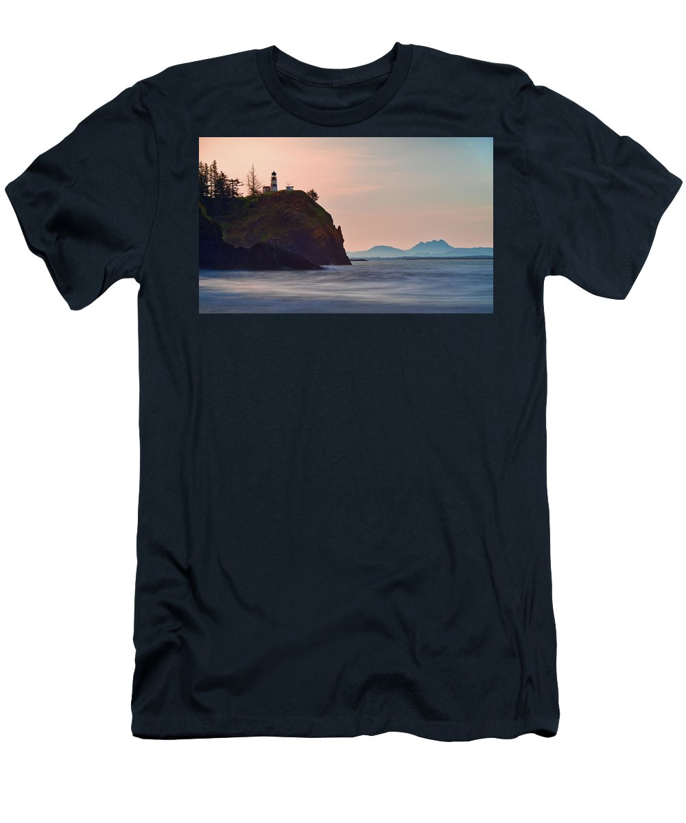 Washington State Men's T-Shirt (Athletic Fit) featuring the photograph Sunrise At Cape Disappointment by Manuela Durson
