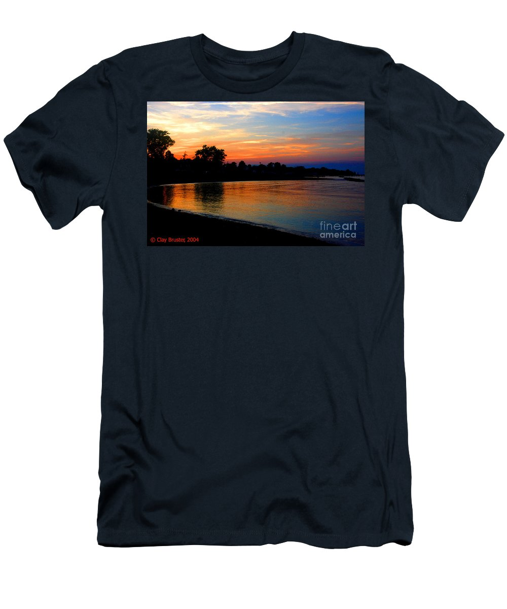 Clay Men's T-Shirt (Athletic Fit) featuring the photograph Sunset At Colonial Beach Cove by Clayton Bruster