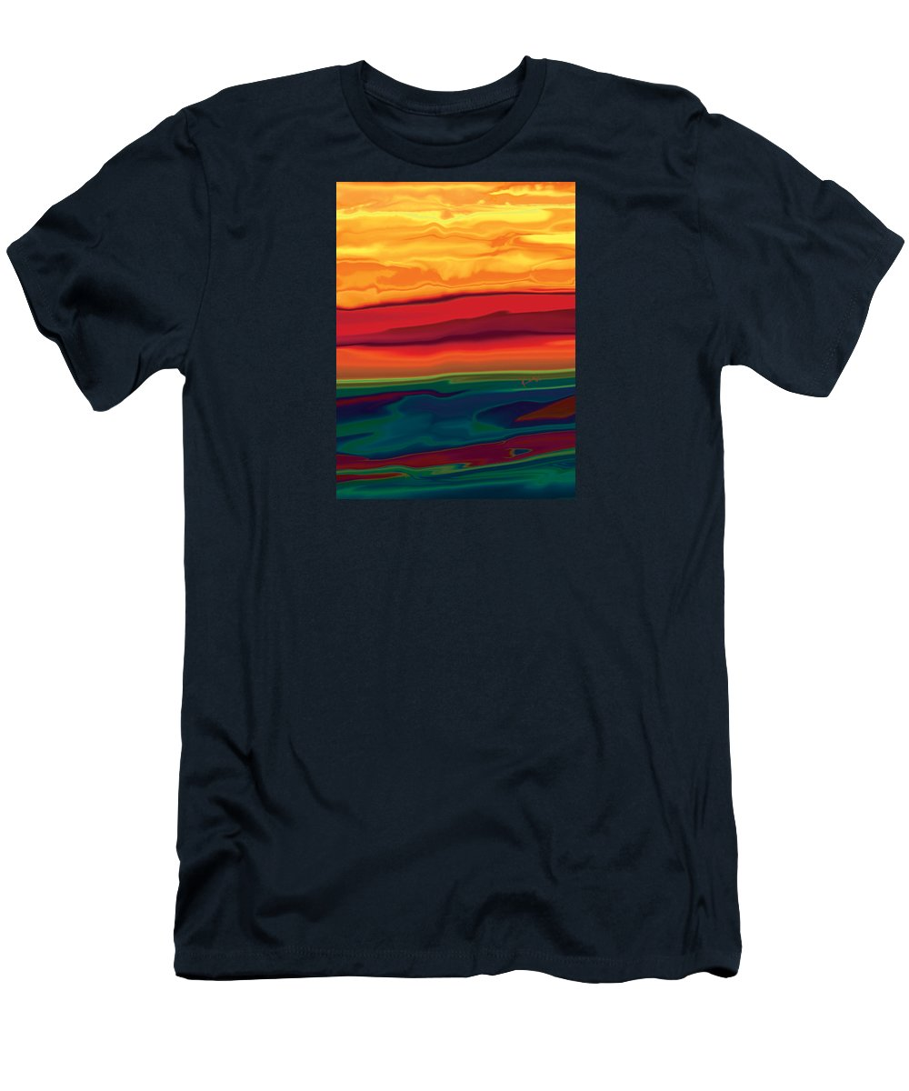 Art Men's T-Shirt (Athletic Fit) featuring the digital art Sunset In Ottawa Valley 1 by Rabi Khan