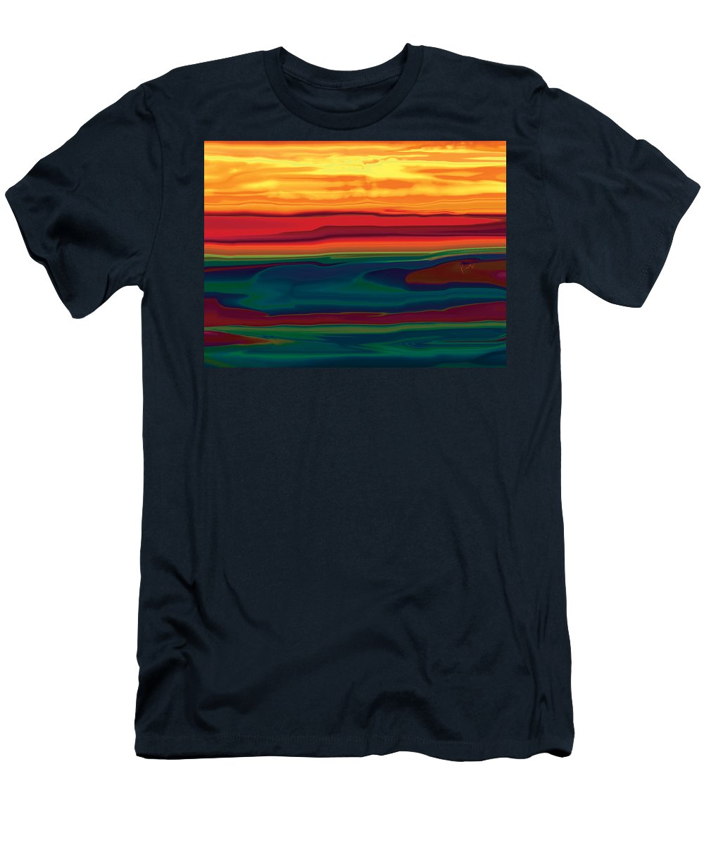 Art Men's T-Shirt (Athletic Fit) featuring the digital art Sunset In Ottawa Valley by Rabi Khan