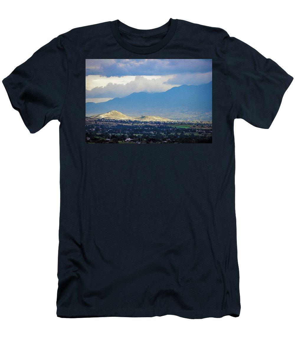 Landscape Men's T-Shirt (Athletic Fit) featuring the photograph Sunset Light 1 by IK Hadinger