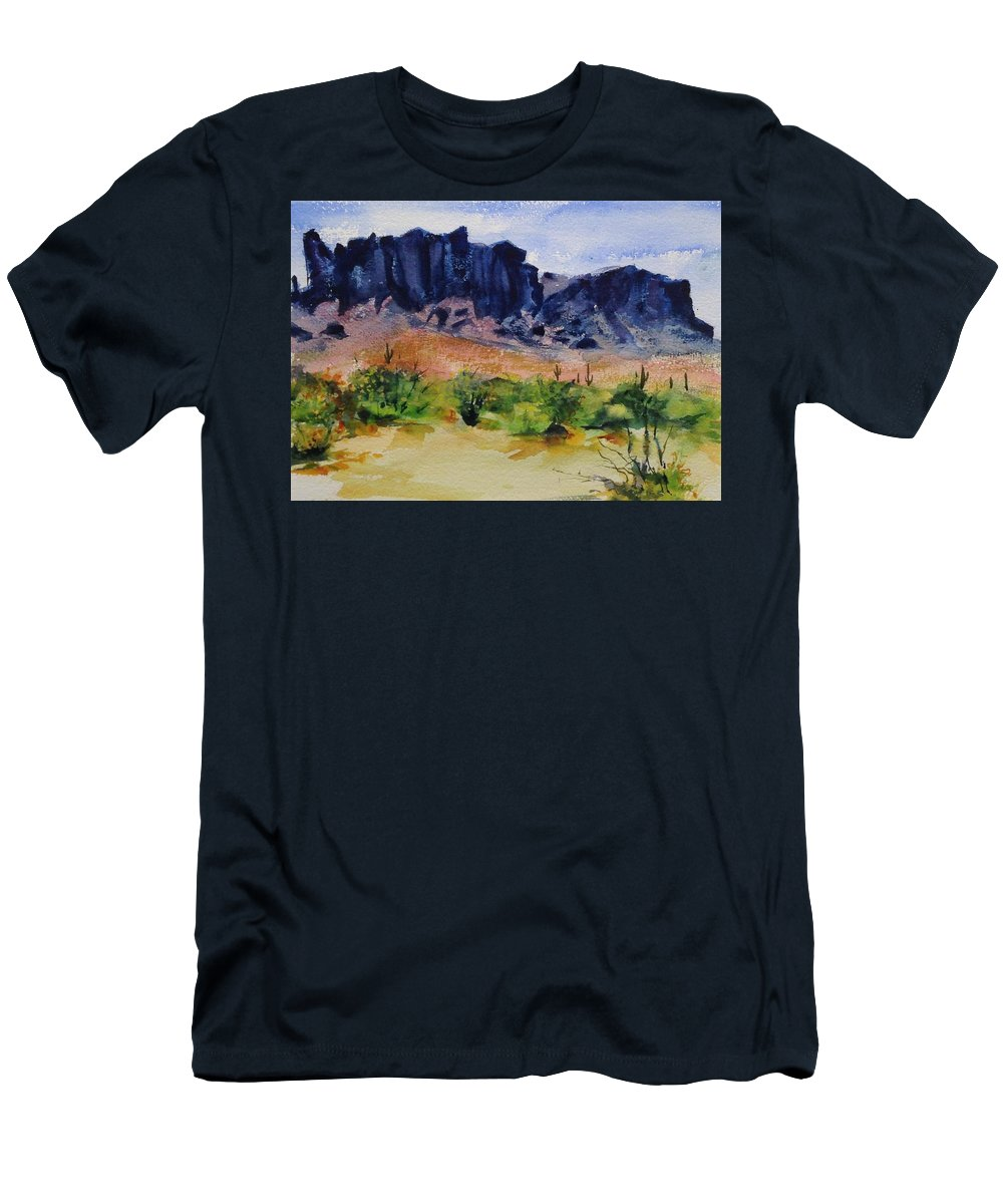 Men's T-Shirt (Athletic Fit) featuring the painting Supperstition by Frank Hoeffler