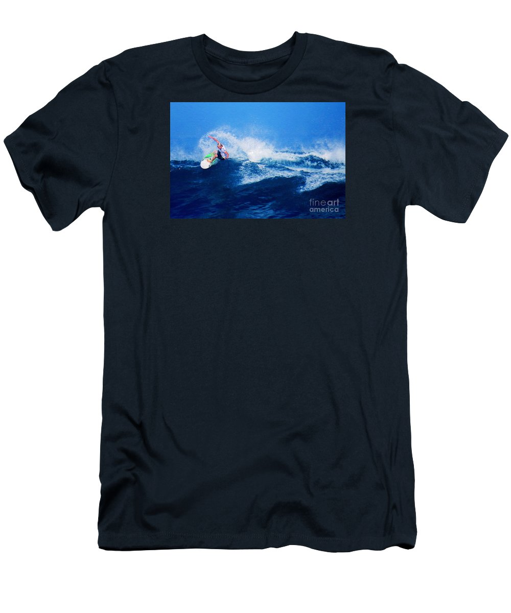 Professional-surfer-surfers Men's T-Shirt (Athletic Fit) featuring the photograph Surfer Charles Martin Nbr. 3 by Scott Cameron